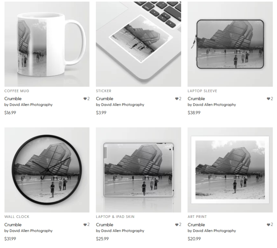 Visit my society 6 page for digital prints and photo-bedazzled wares.