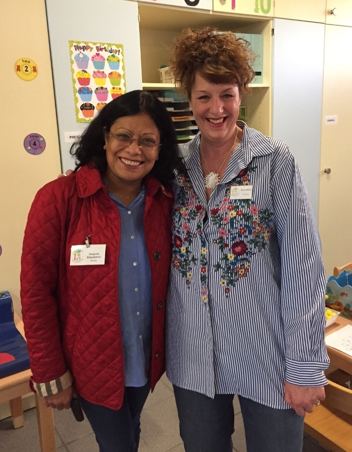 Sharon and Sangeeta, two of our Pre-School teachers