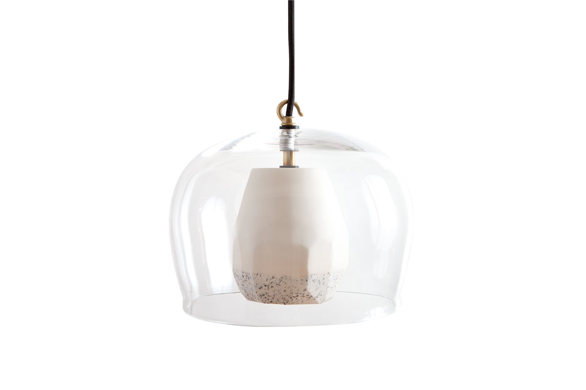 FACET LAMP SMALL GLASS