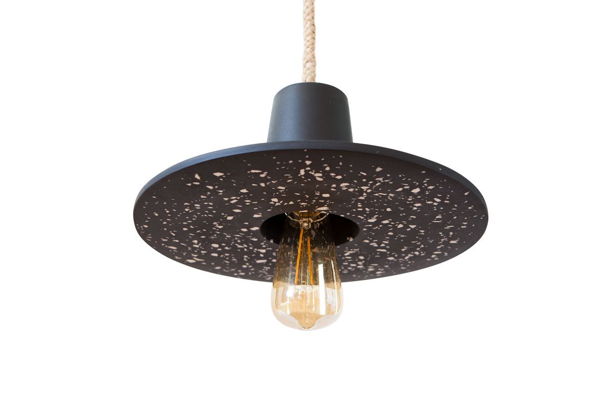 DISC LAMP SMALL BLACK