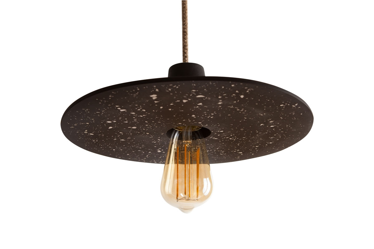 DISC LAMP LARGE BLACK