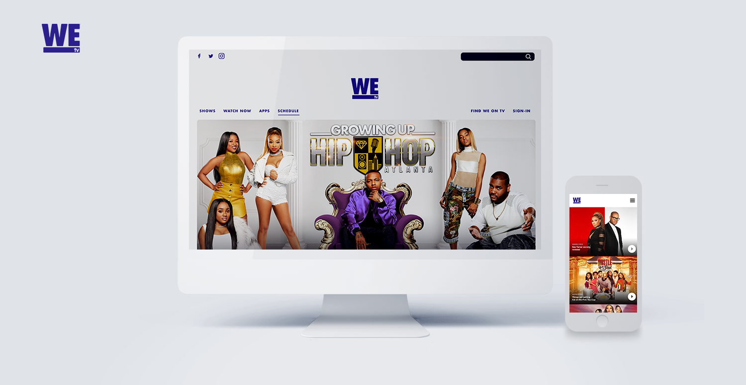 AMC  NETWORKS | WETV WEBSITE + MOBILE APP  | DESIGNER