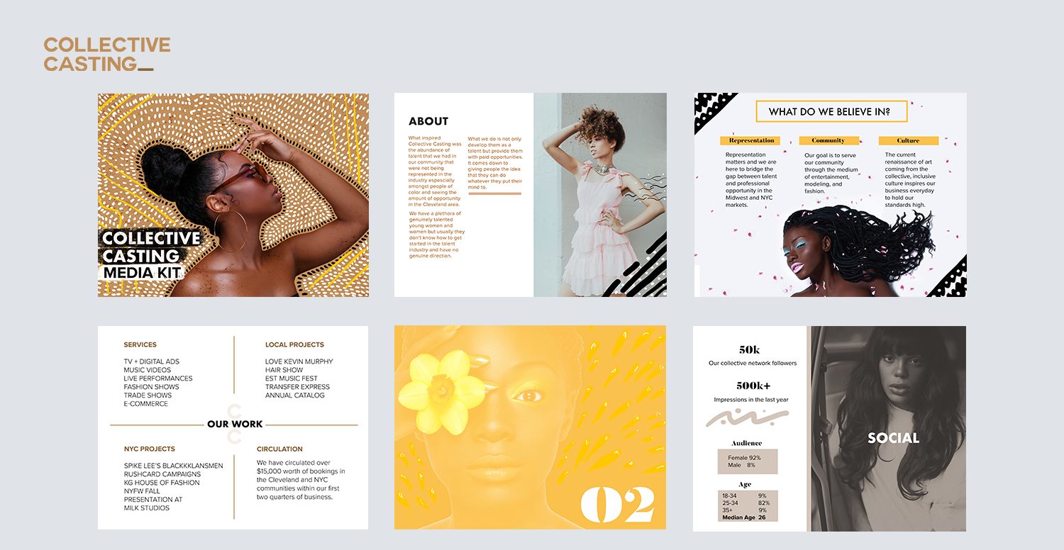 COLLECTIVE CASTING MEDIA KIT   | ART DIRECTOR + DESIGNER