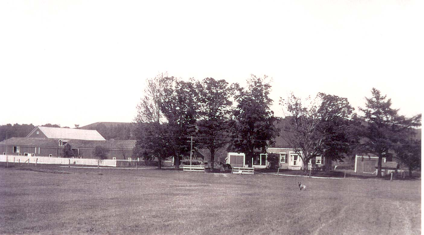 Although many renovations have been made, the farmhouse retains its original character today. Pictured in this photo is the original barn, which burned to the ground in April 1915.
