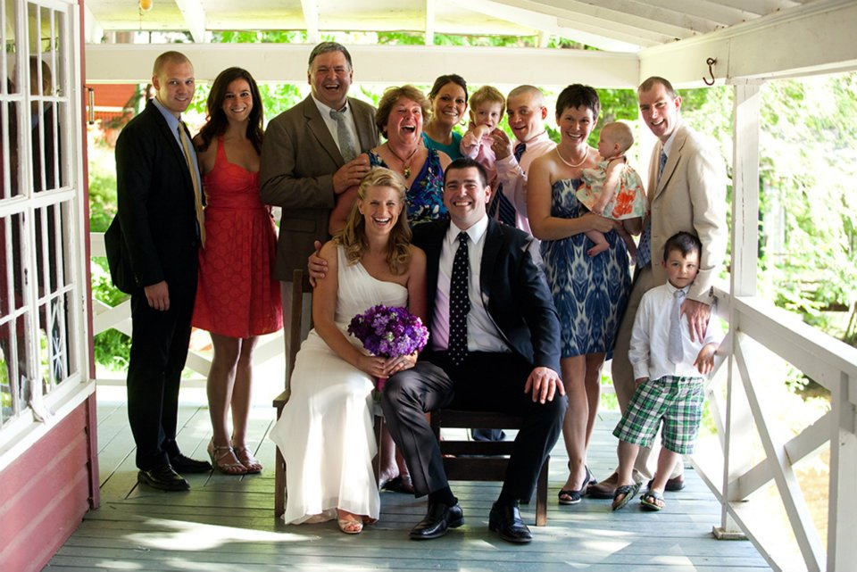The Conant family celebrates Ransom and Alison's wedding in 2012