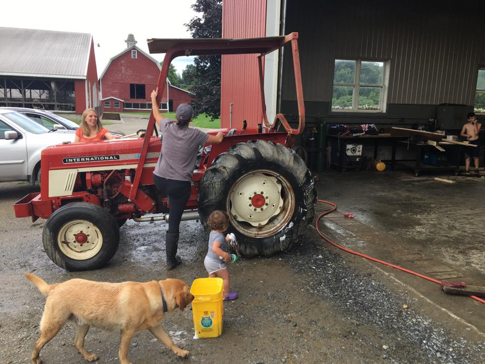 Shining up the tractors