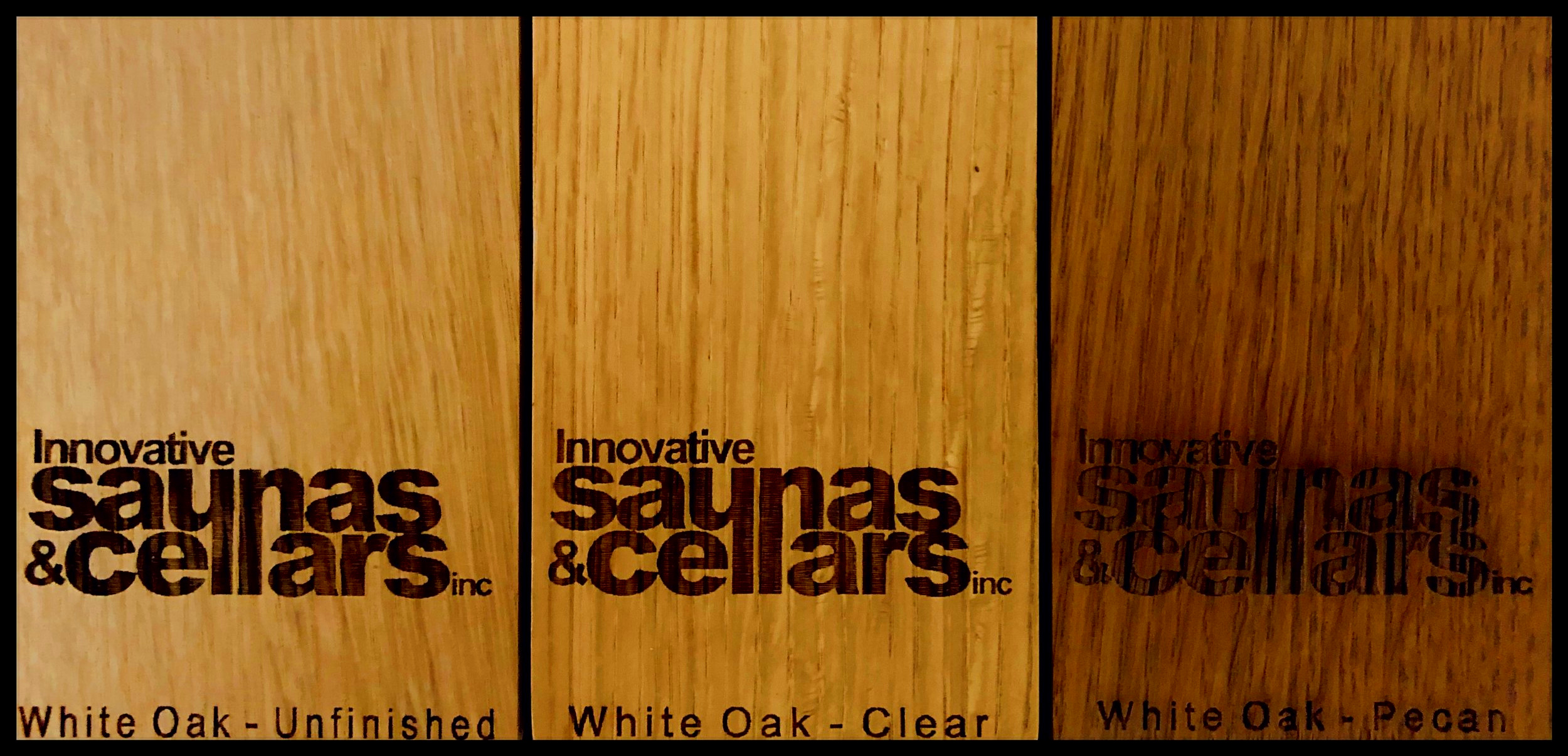 White Oak:  Unfinished - Clear Lacquer - Pecan