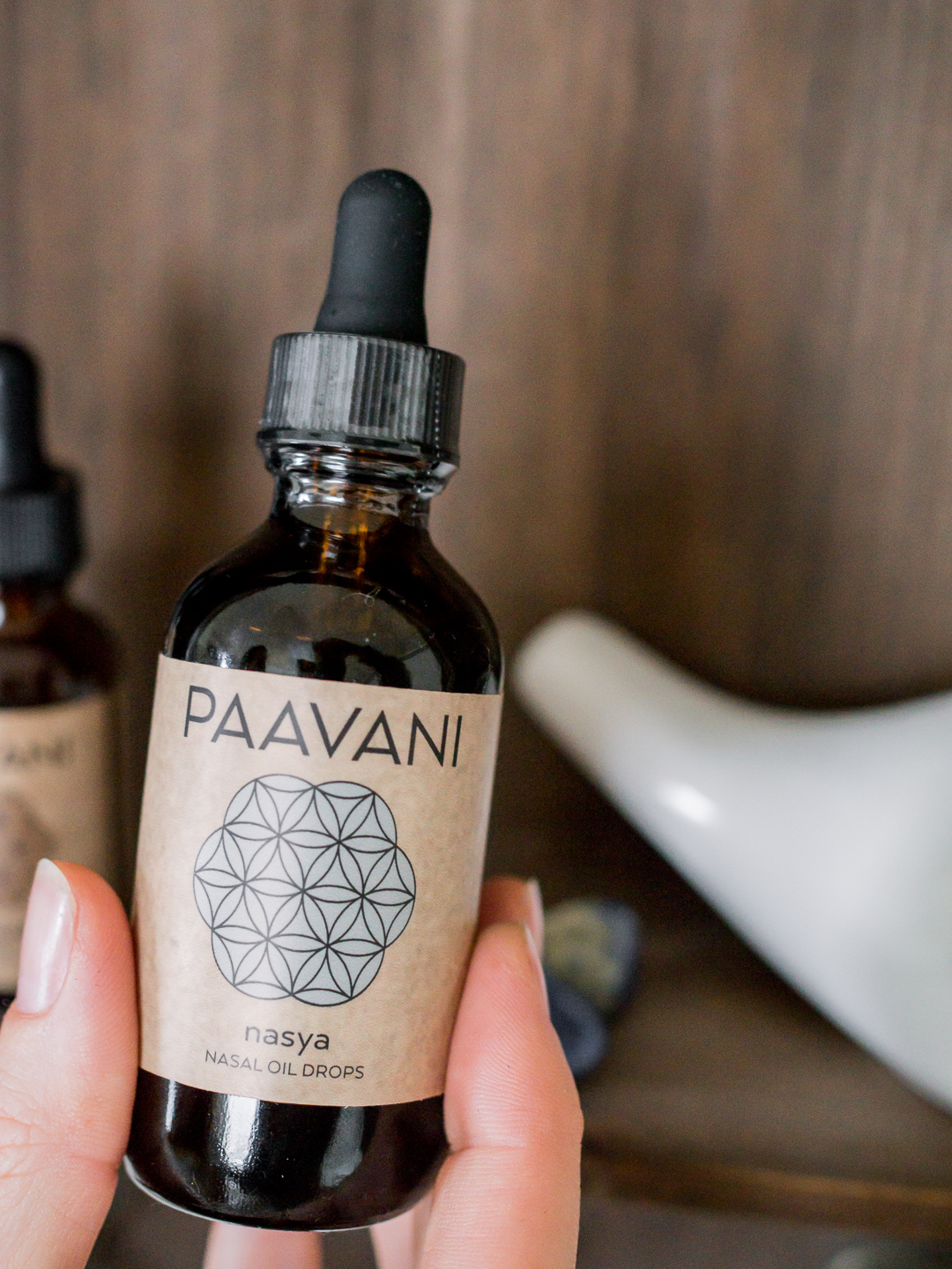 Organic Nasya oil by PAAVANI Ayurveda | Available for purchase at The Lotus Room