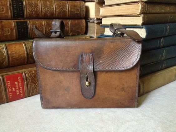 this post is all about cool vintage leather bags, check out marysavel.com/blog for more