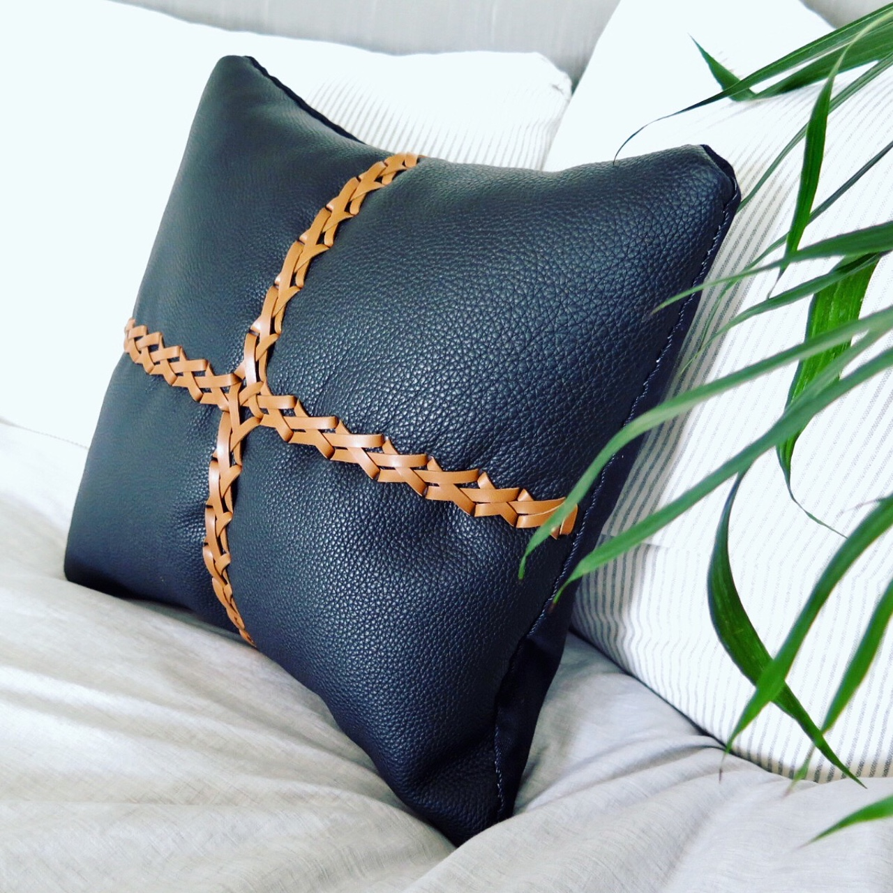 leather pillows, joey pillows, mary savel