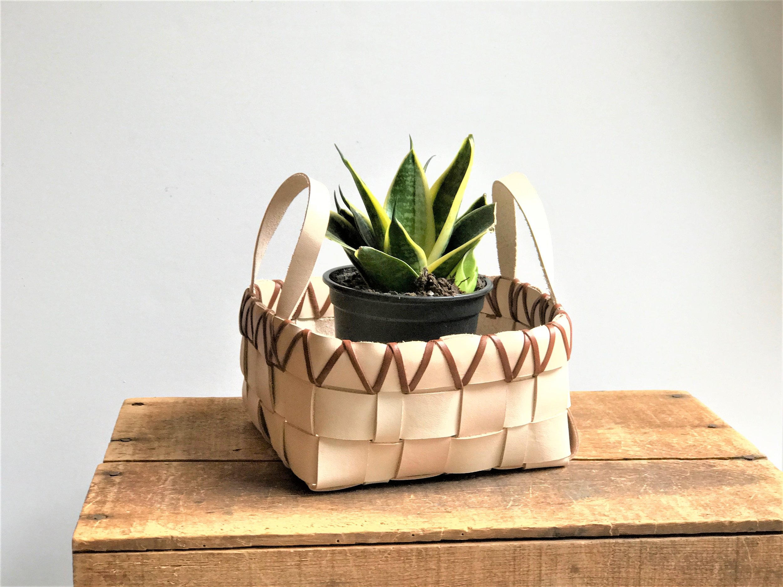LEATHER BASKETS -