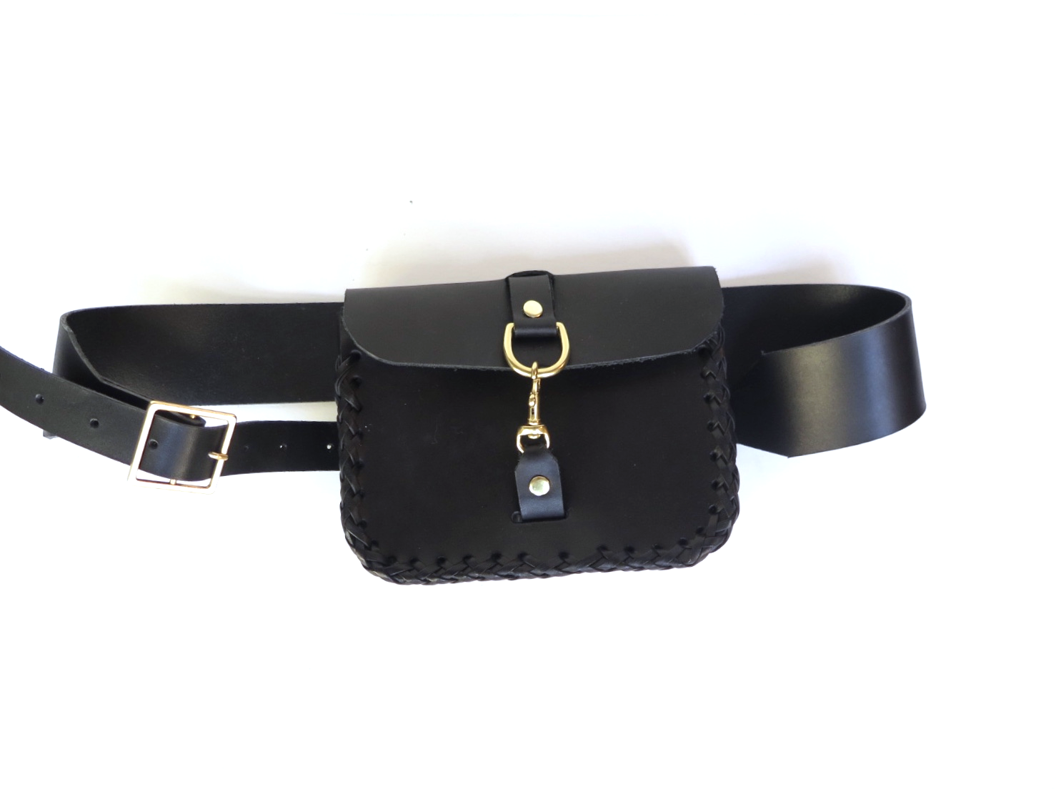 Belt bag black leather by mary savel