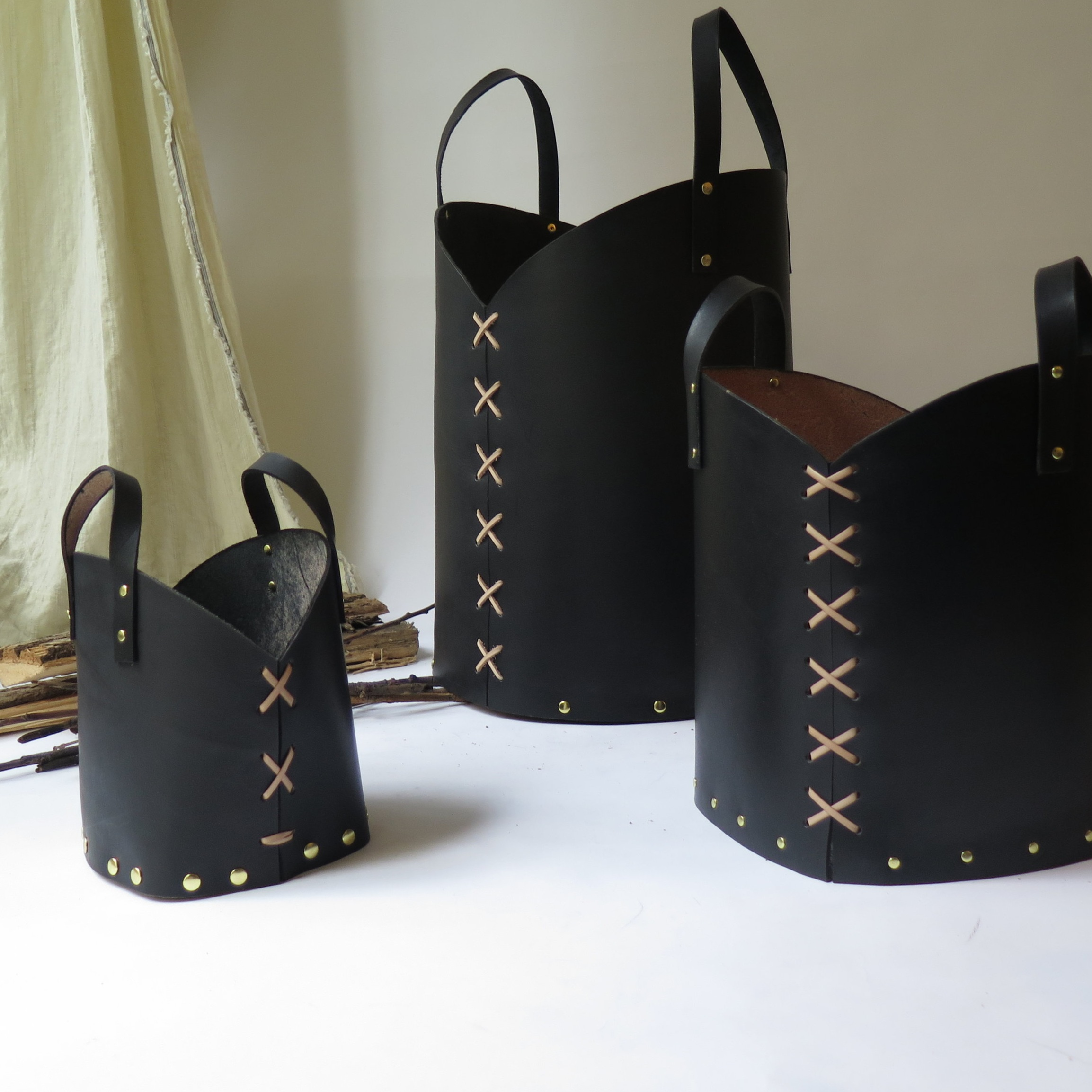 LEATHER BUCKETS -