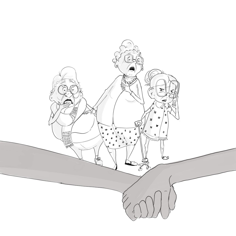 Scandalised Grandmama's