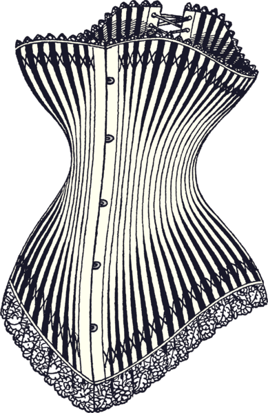 Corset Illustration, ca 1878