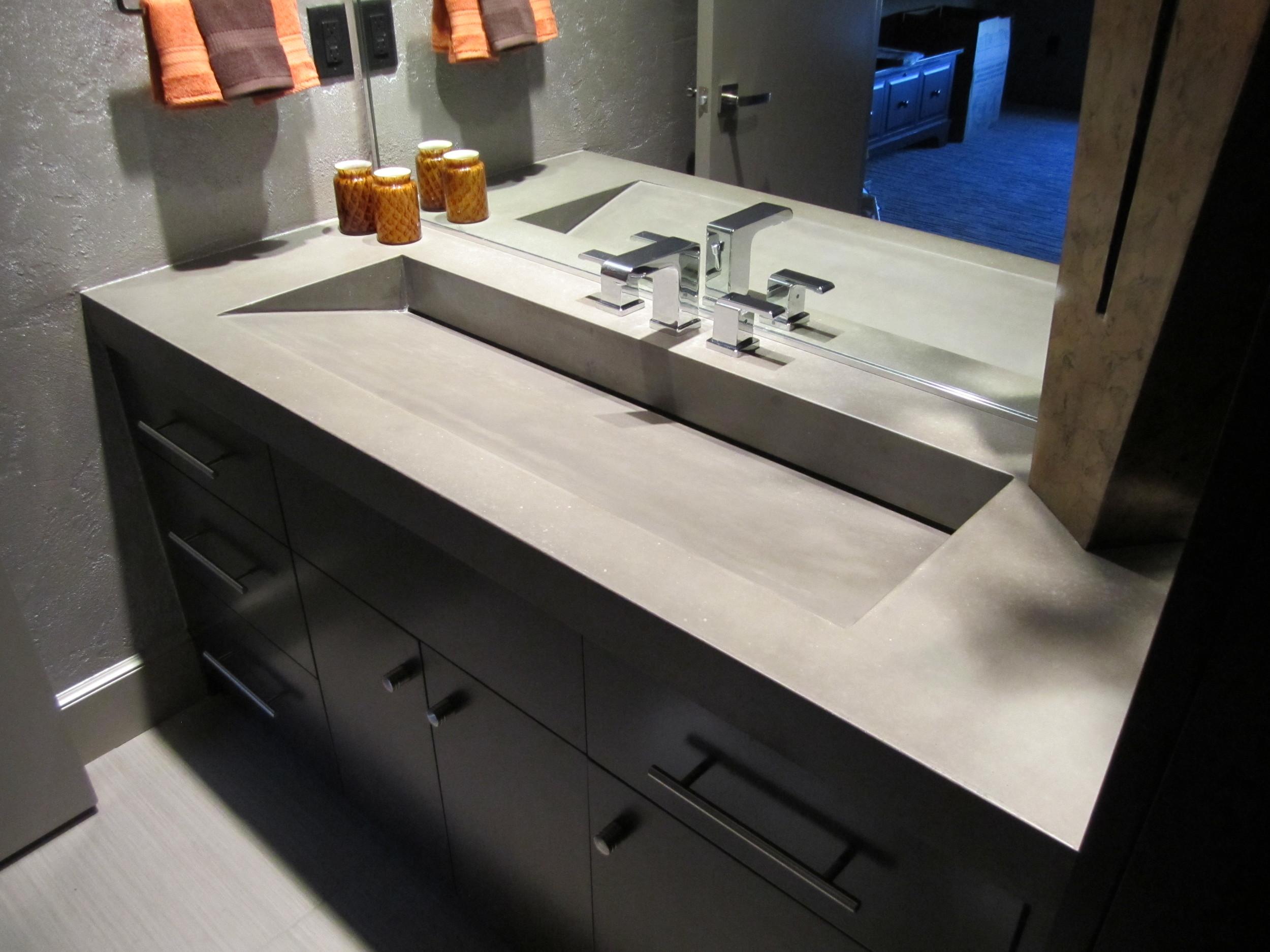 Wide Concrete Ramp Sink