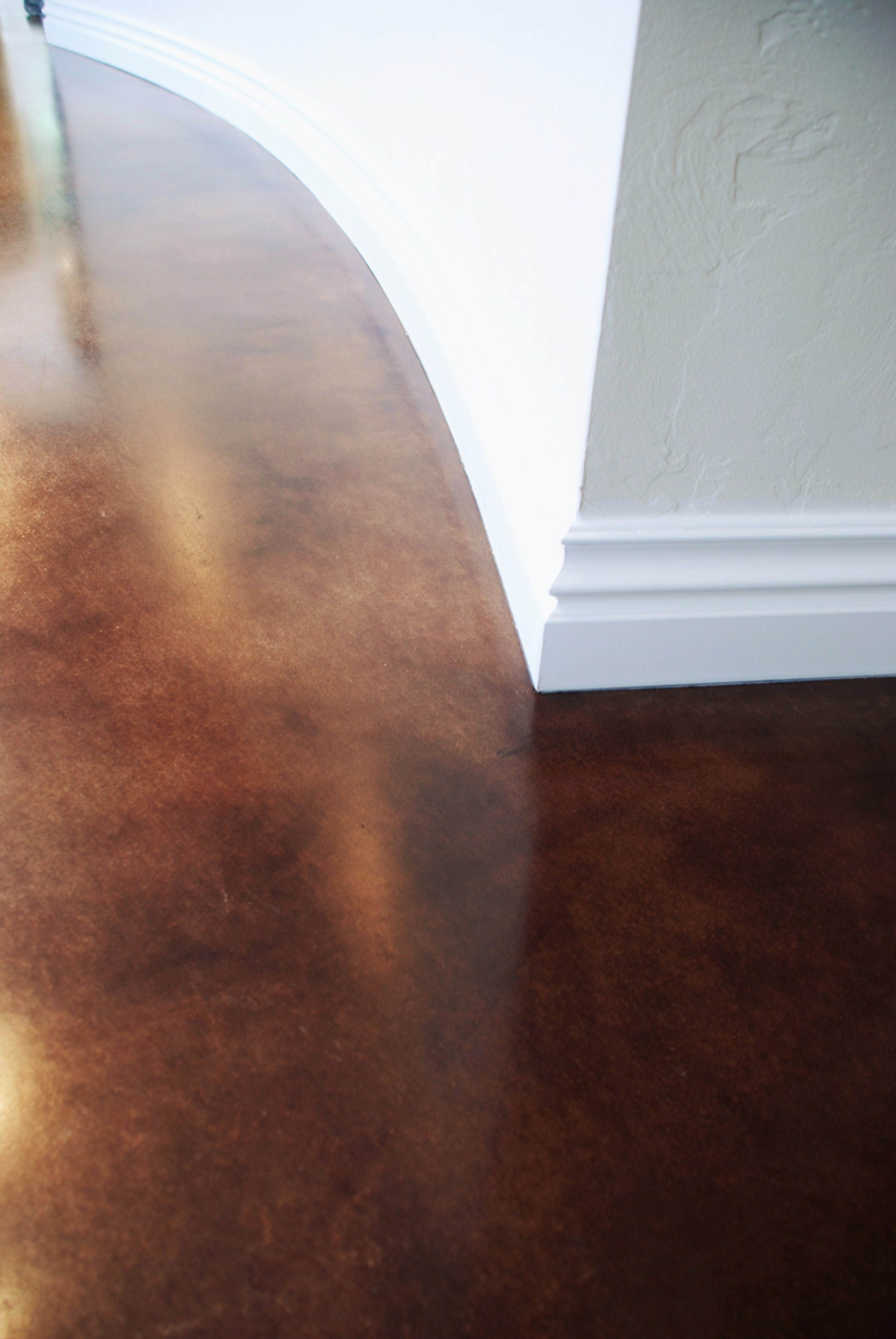 Diamond Honed, Stained and Sealed Concrete