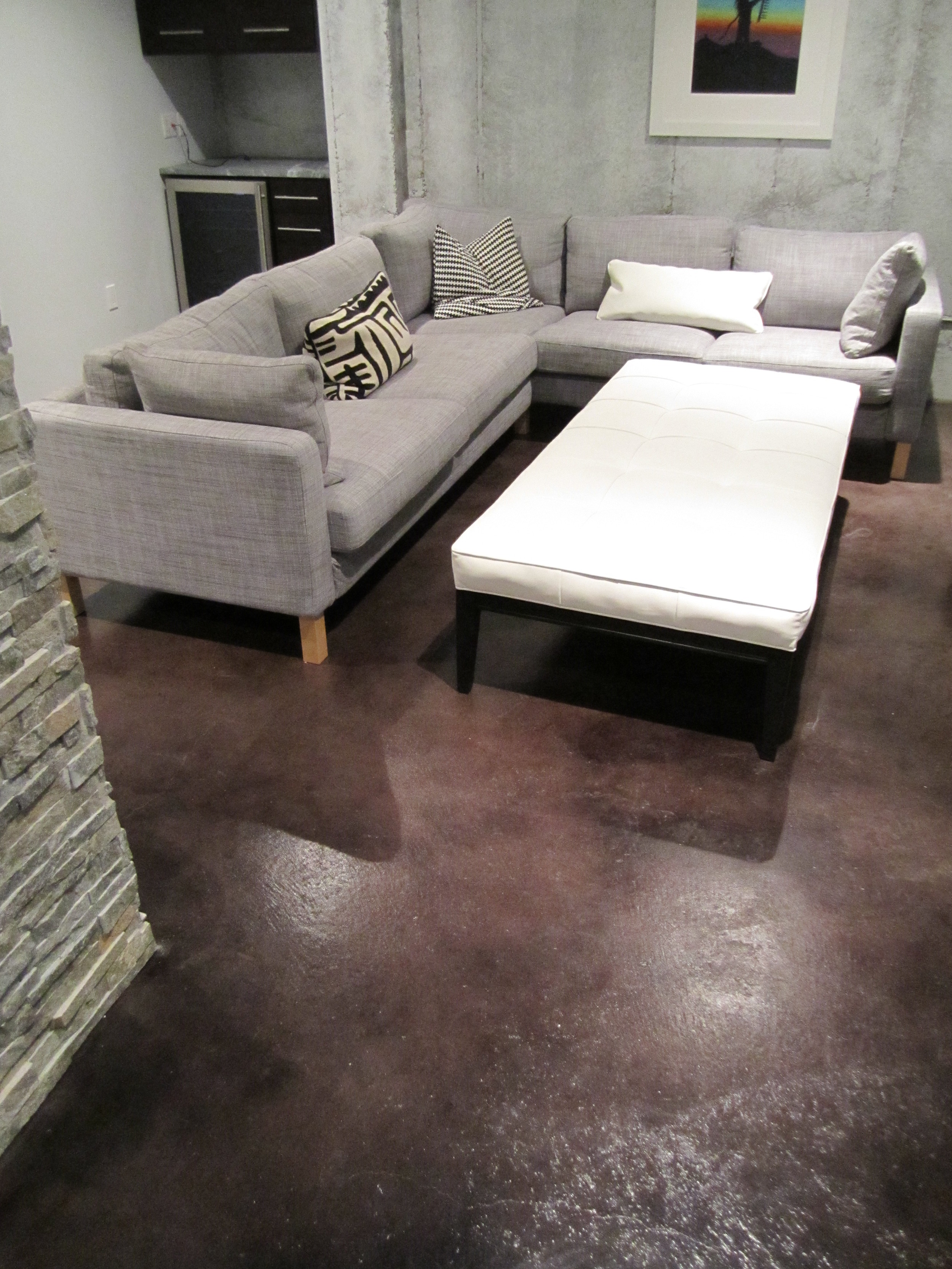 Acid Stained Concrete and Seal