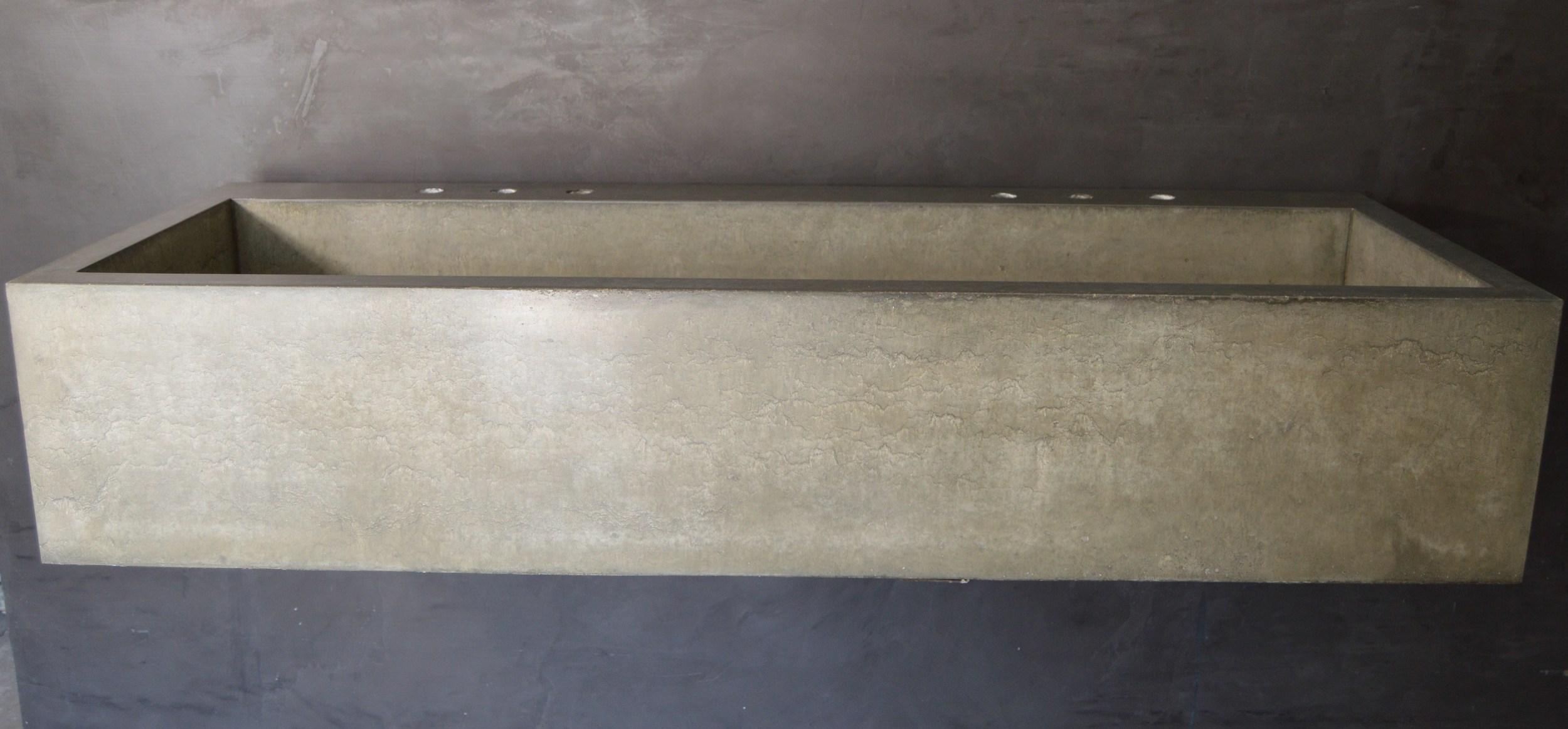 Double Farmhouse Concrete Sink