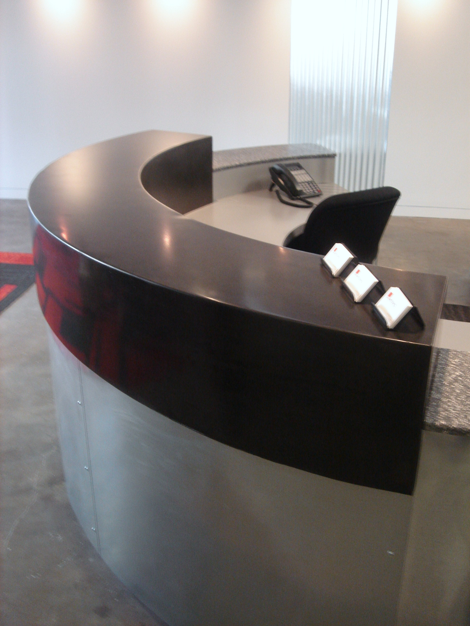 Radial Concrete Reception Ledge