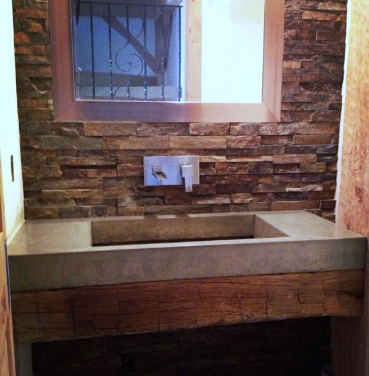 Rustic Concrete Ramp Sink