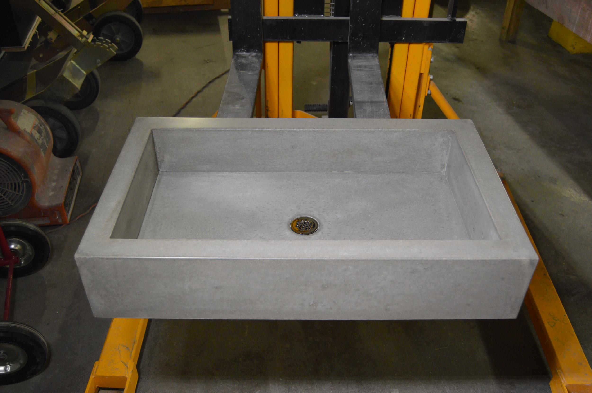 Concrete Trough Vessel Sink