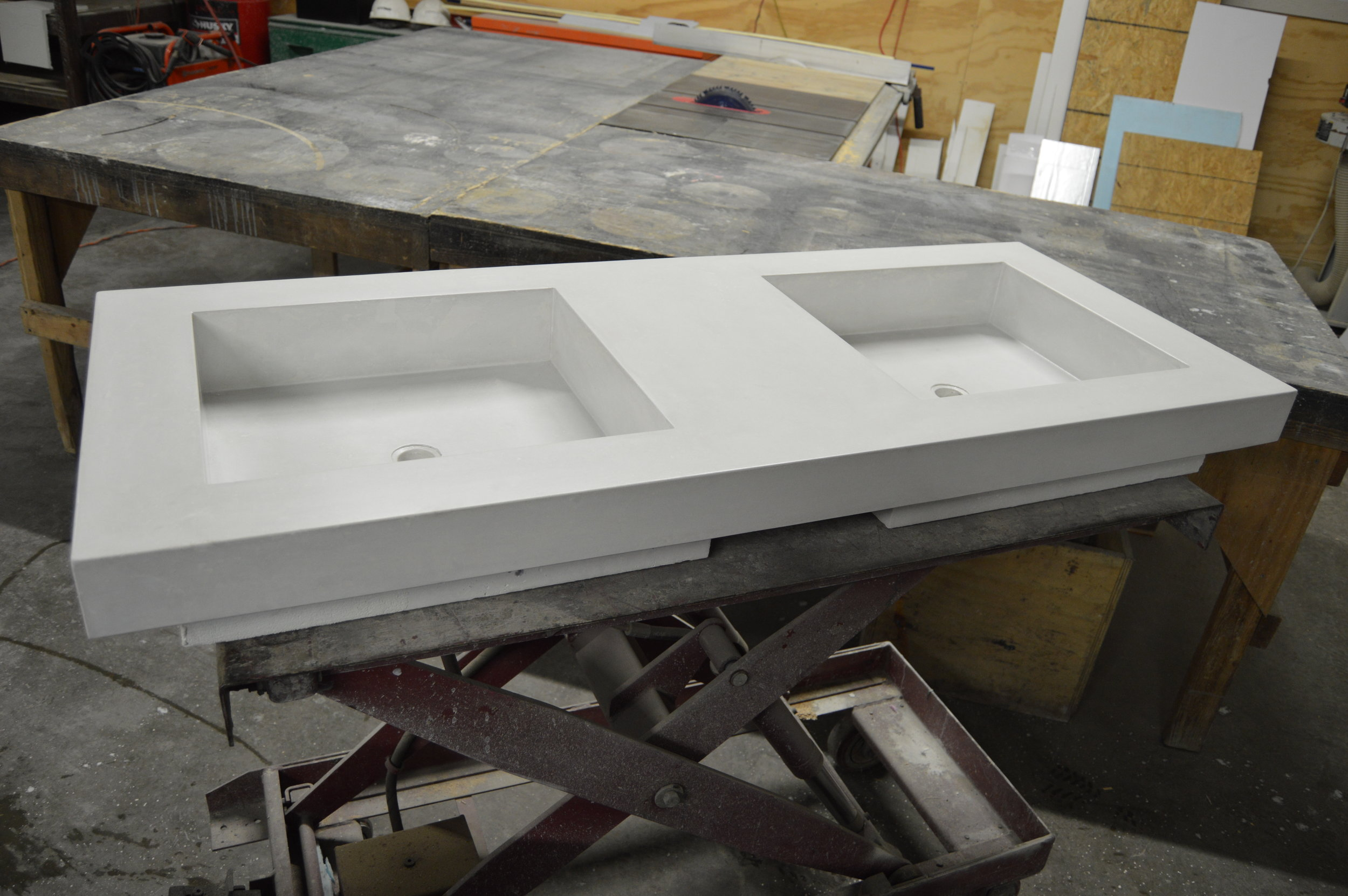 Concrete Trough Vanity