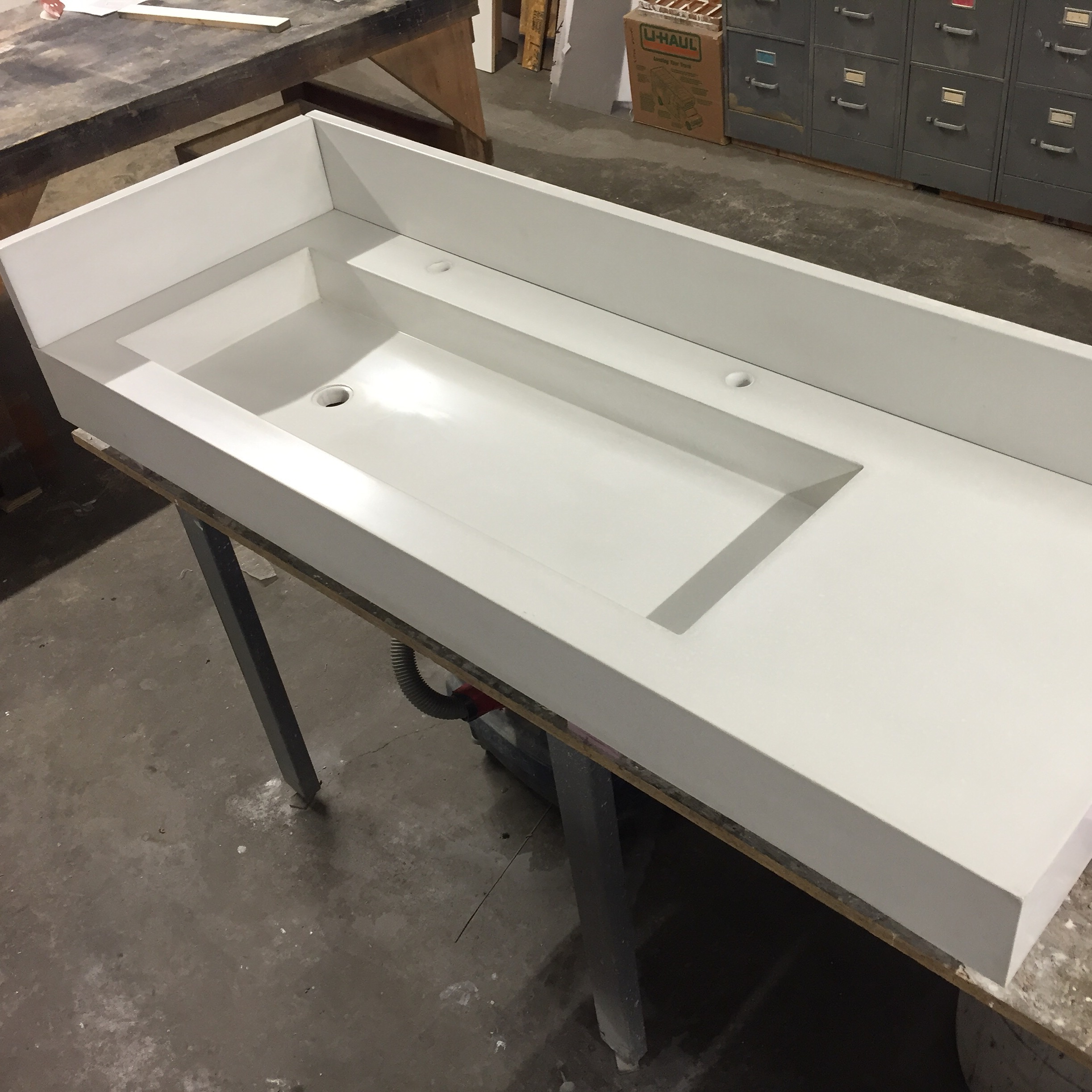 Integral Concrete Trough Sink