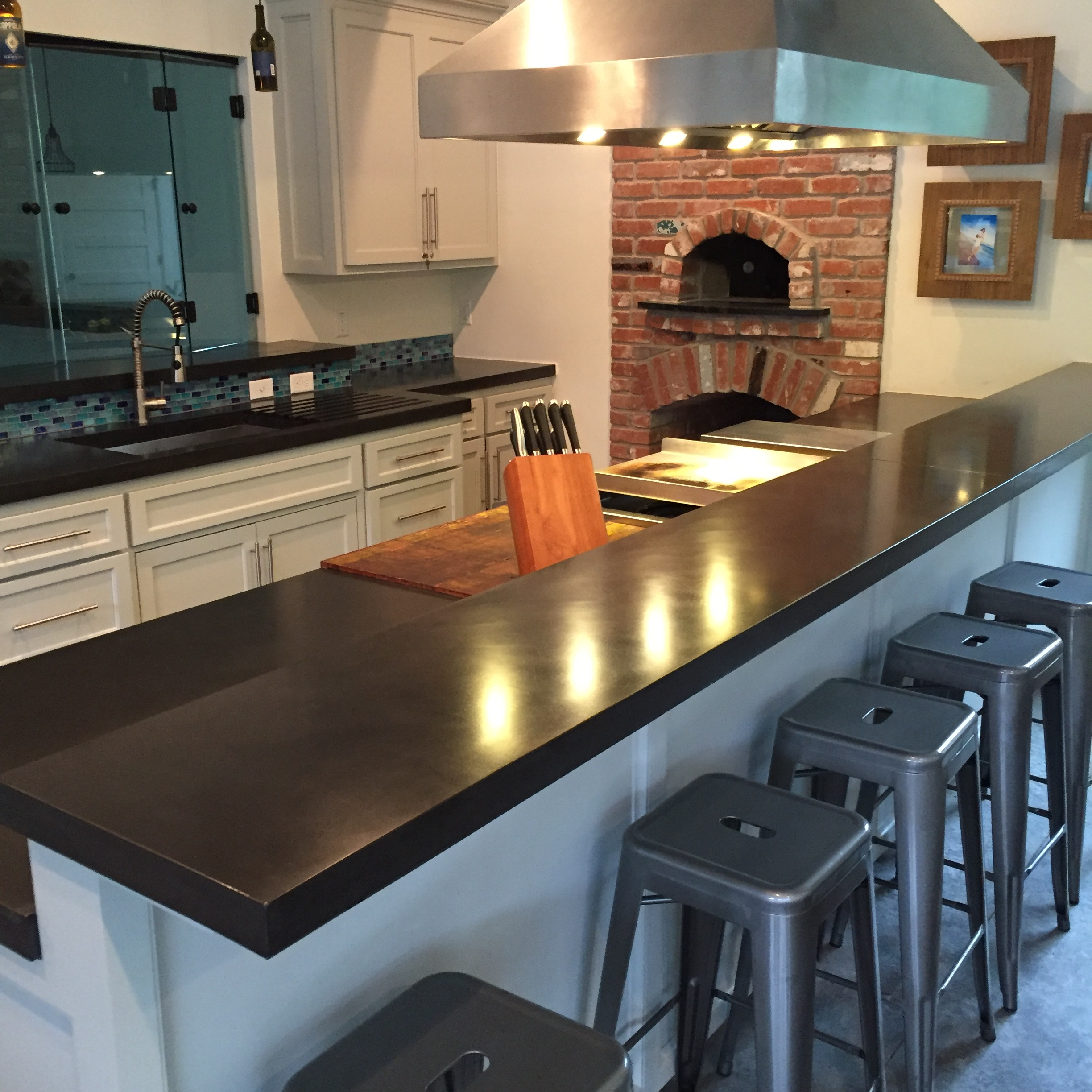 Charcoal Concrete Kitchen Countertops