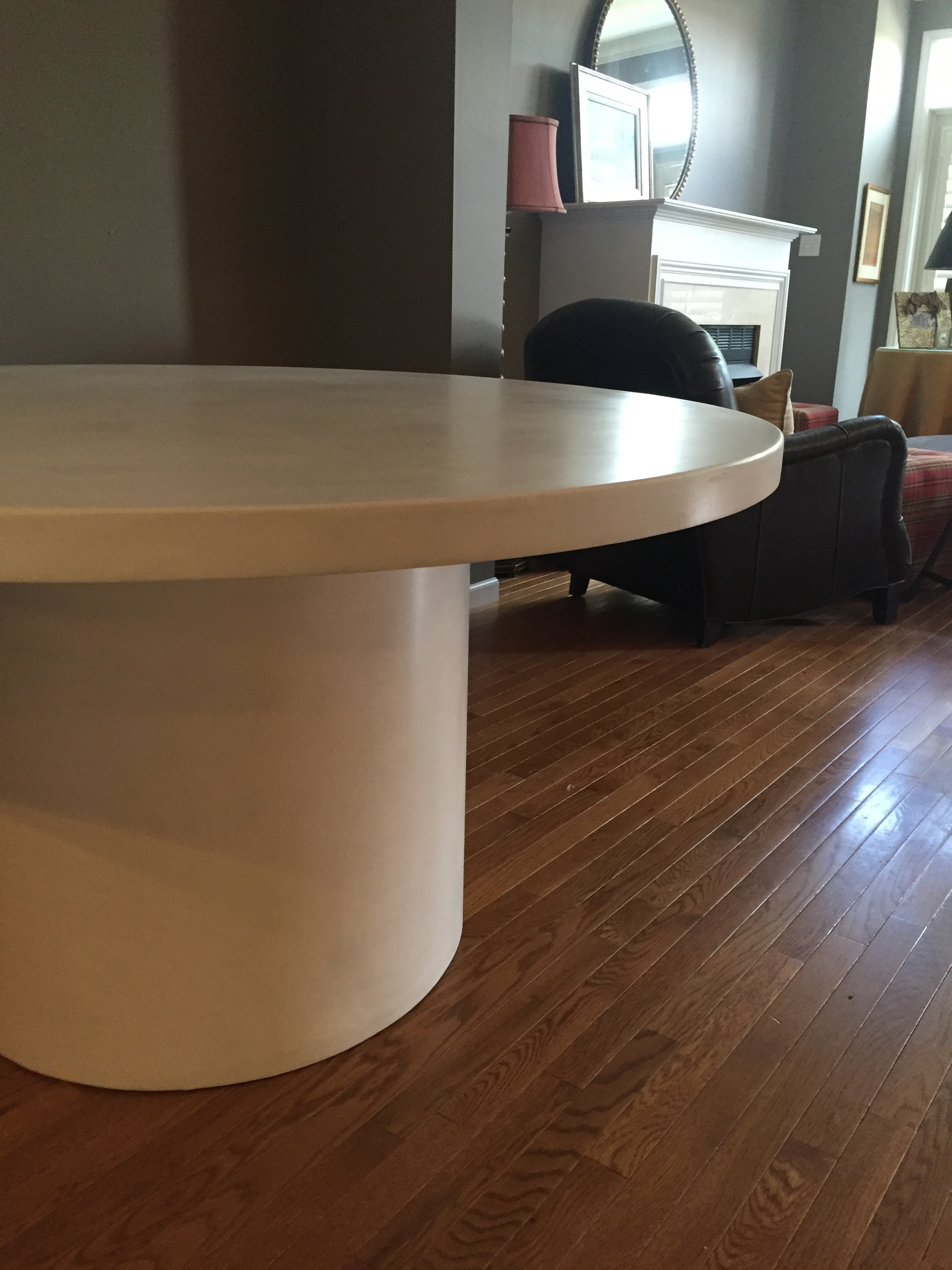"60"" Round Concrete Table"