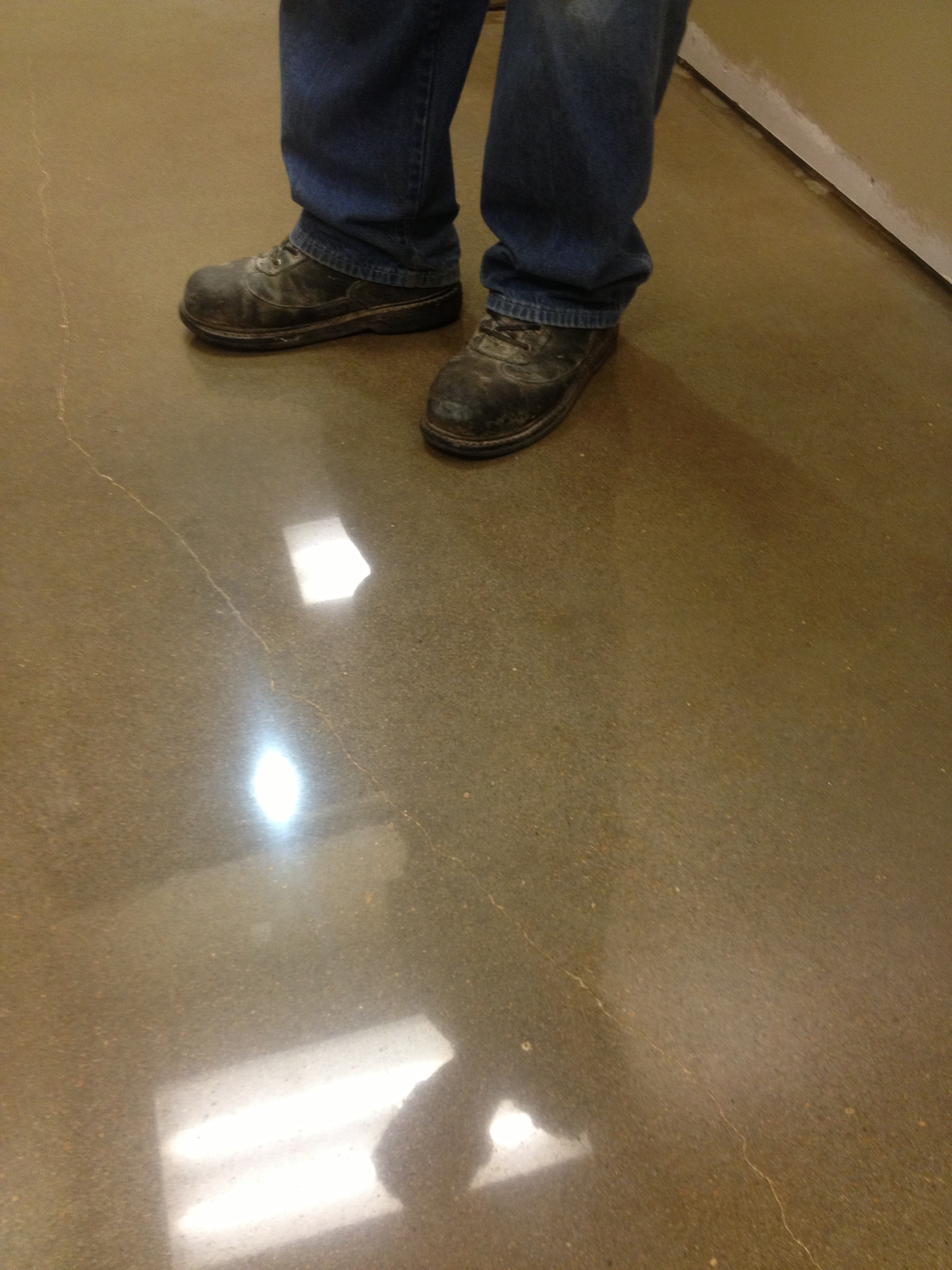 Polished and Dyed Concrete Floor