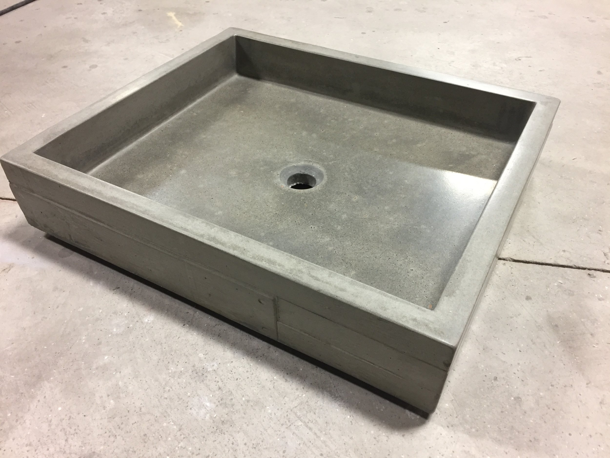 Concrete Vessel with Plank Detail