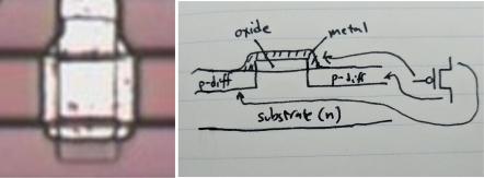 PMOS transistor.