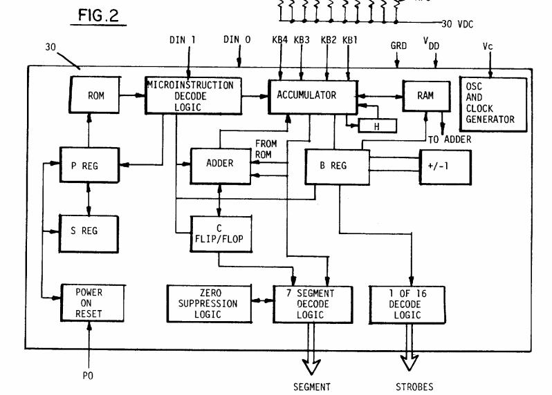 Block diagram of processor from US patent 4339134.
