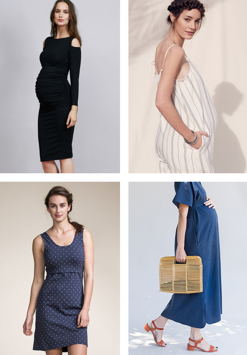 From top left: Isabella Oliver / Hatch / Boob Maternity / Storq