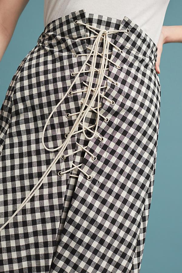 Eva Franco Gingham Skirt (Made in USA)