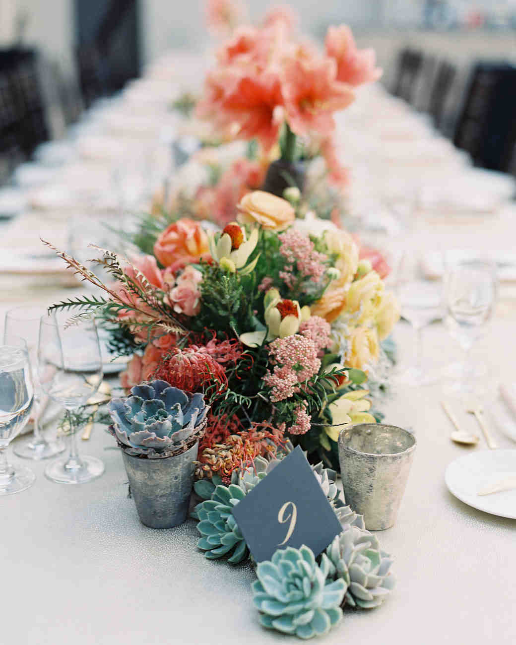 Sustainable Wedding Ideas: Succulent Centerpiece