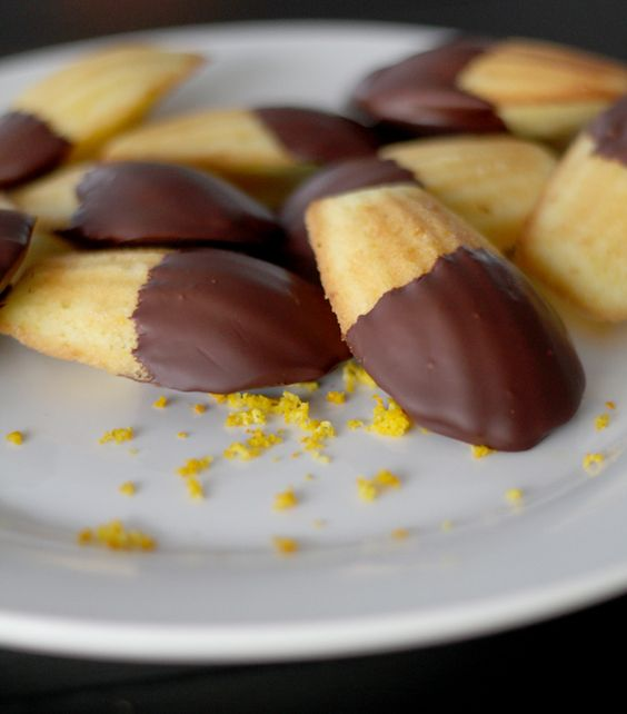 Orange Chocolate Madelines | Fair Trade Treats