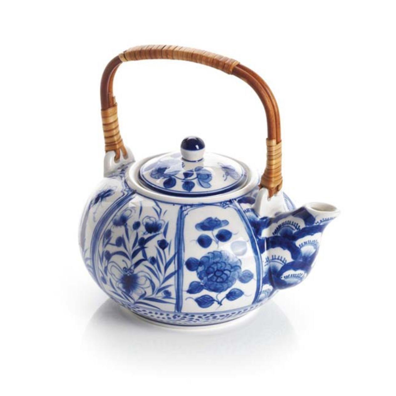 Serrv Blue Meadow Teapot
