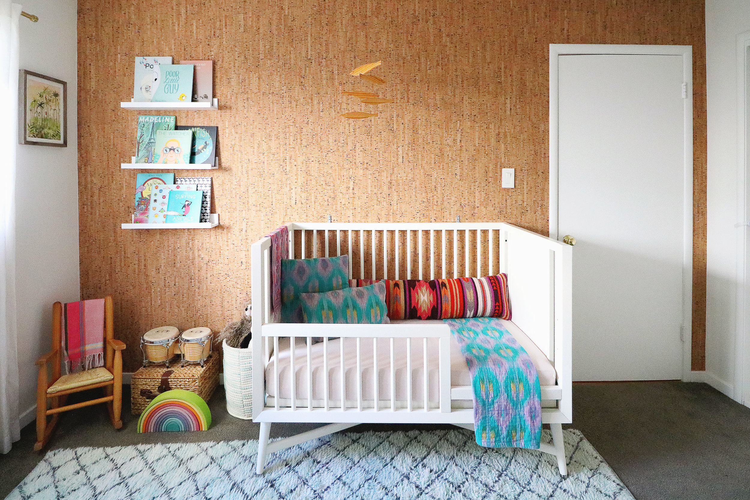 Surf-inspired bohemian nursery