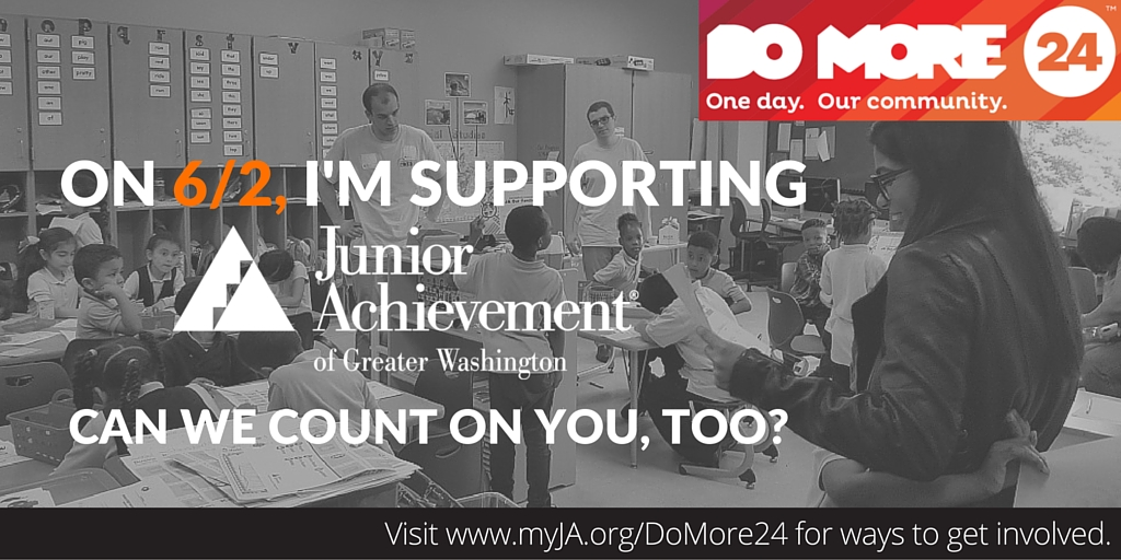 Twitter graphic; right click and Save As to save.    Tweet:   #DoMore24 is coming up on 6/2 & I'm supporting @JA_GW. You should too! Find out ways you can get involved at myja.org/domore24