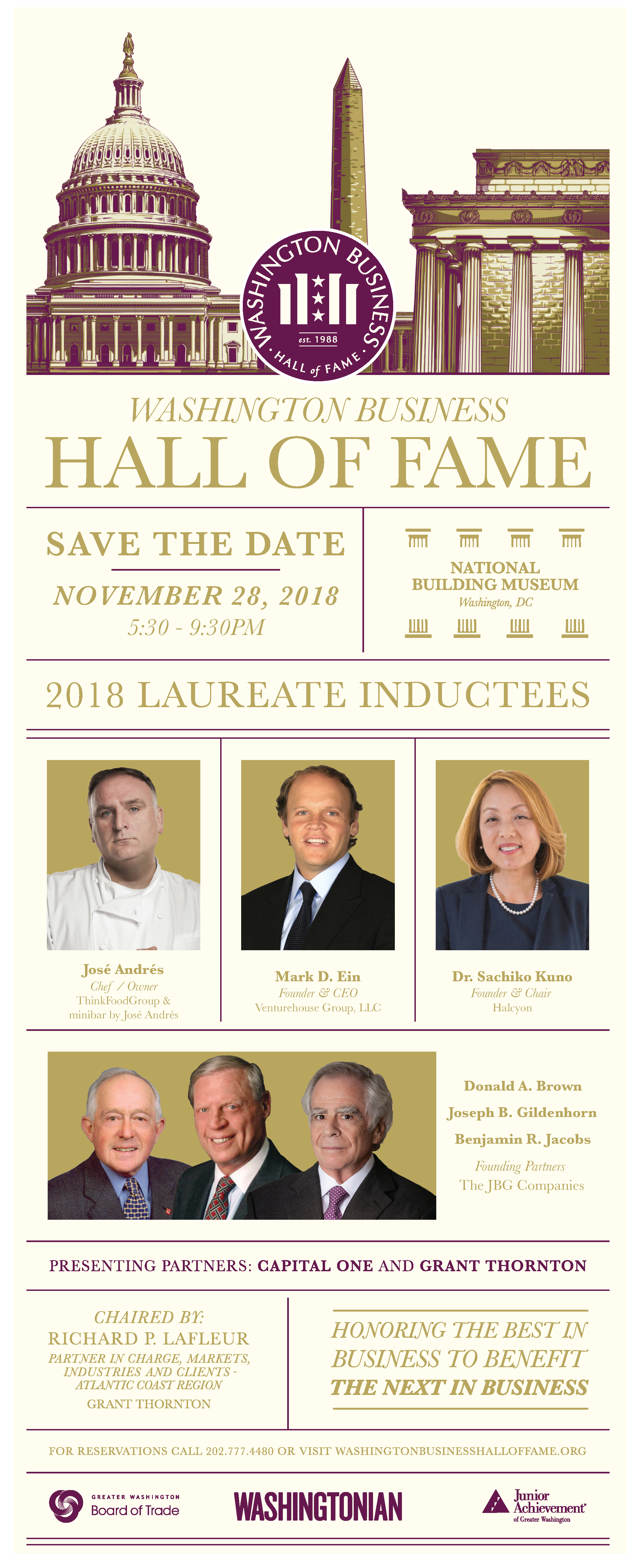 2018 WASHINGTON BUSINESS HALL OF FAME Save the date  Save the Date for 2018 Washington Business Hall of Fame (Click to View)