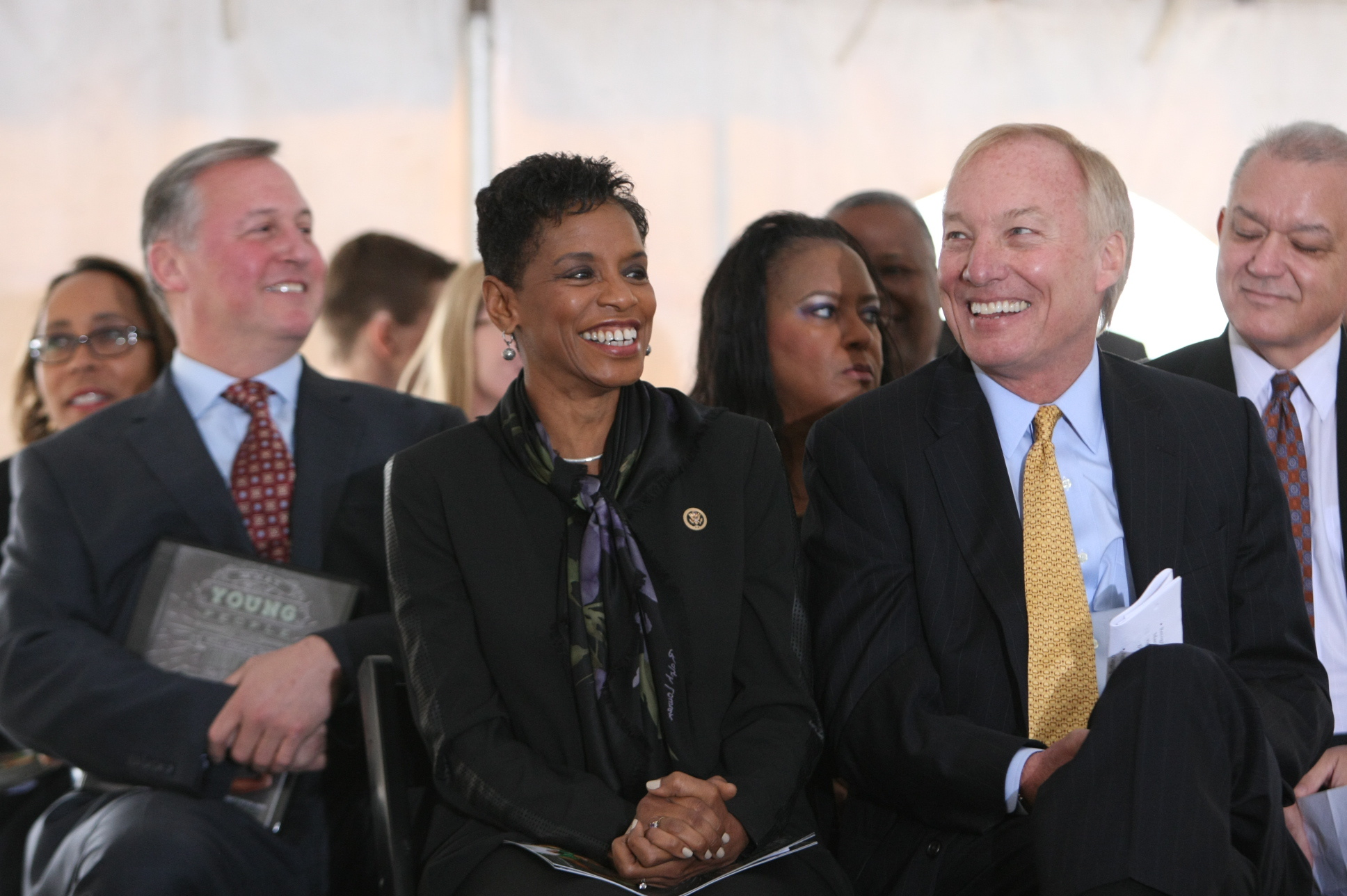 MD Comptroller Peter Franchot and Congresswoman Donna Edwards.JPG