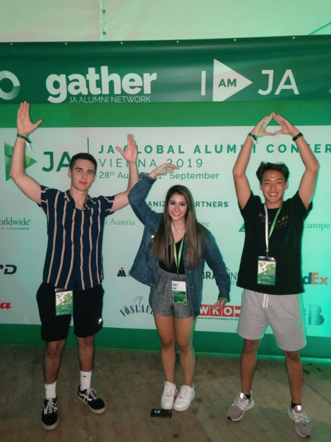 JA Alumni representing the United States of America at the Global Alumni Conference