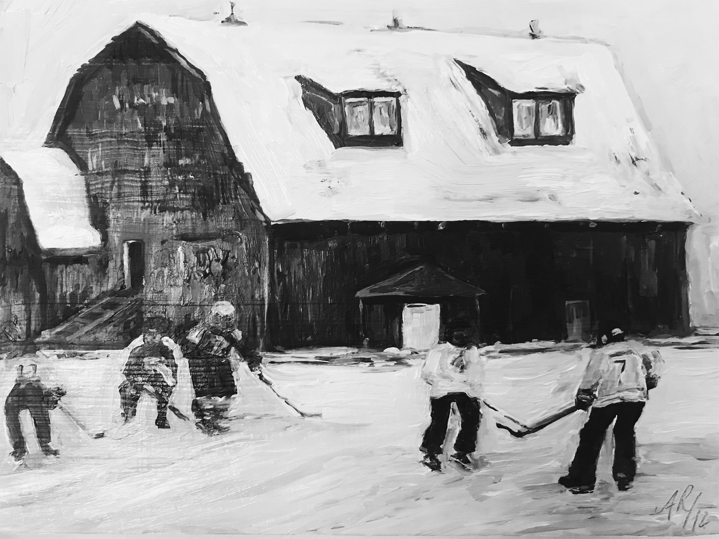 Hockey by the Barn