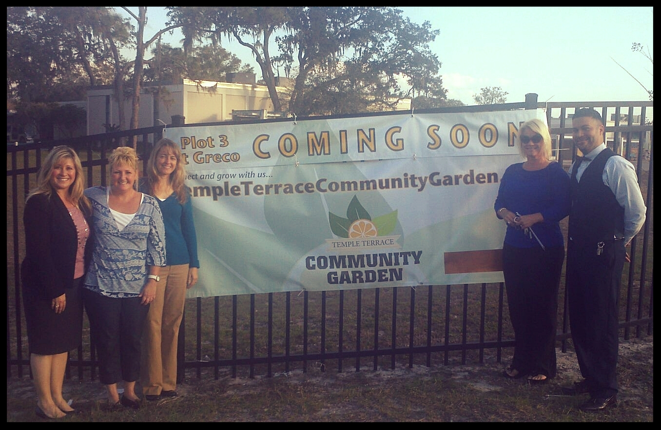 "Fall2012 prior to breaking ground on ""Plot 3"" of the Temple Terrace Community Garden at Greco Middle School."