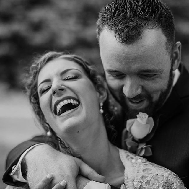 Just a few of my favorites from this past weekend 💕  #weddingphotography #wedding #husbandandwife #laughter #dirtybootsmessyhair #blackandwhite #blackandwhitephotography #monochrome #connection #newlyweds #welwedmagazine @wellwedmagazine @dirtybootsandmessyhair @weddingwire #nataliebowersphotography #ohioweddings #ohioweddingphotographer