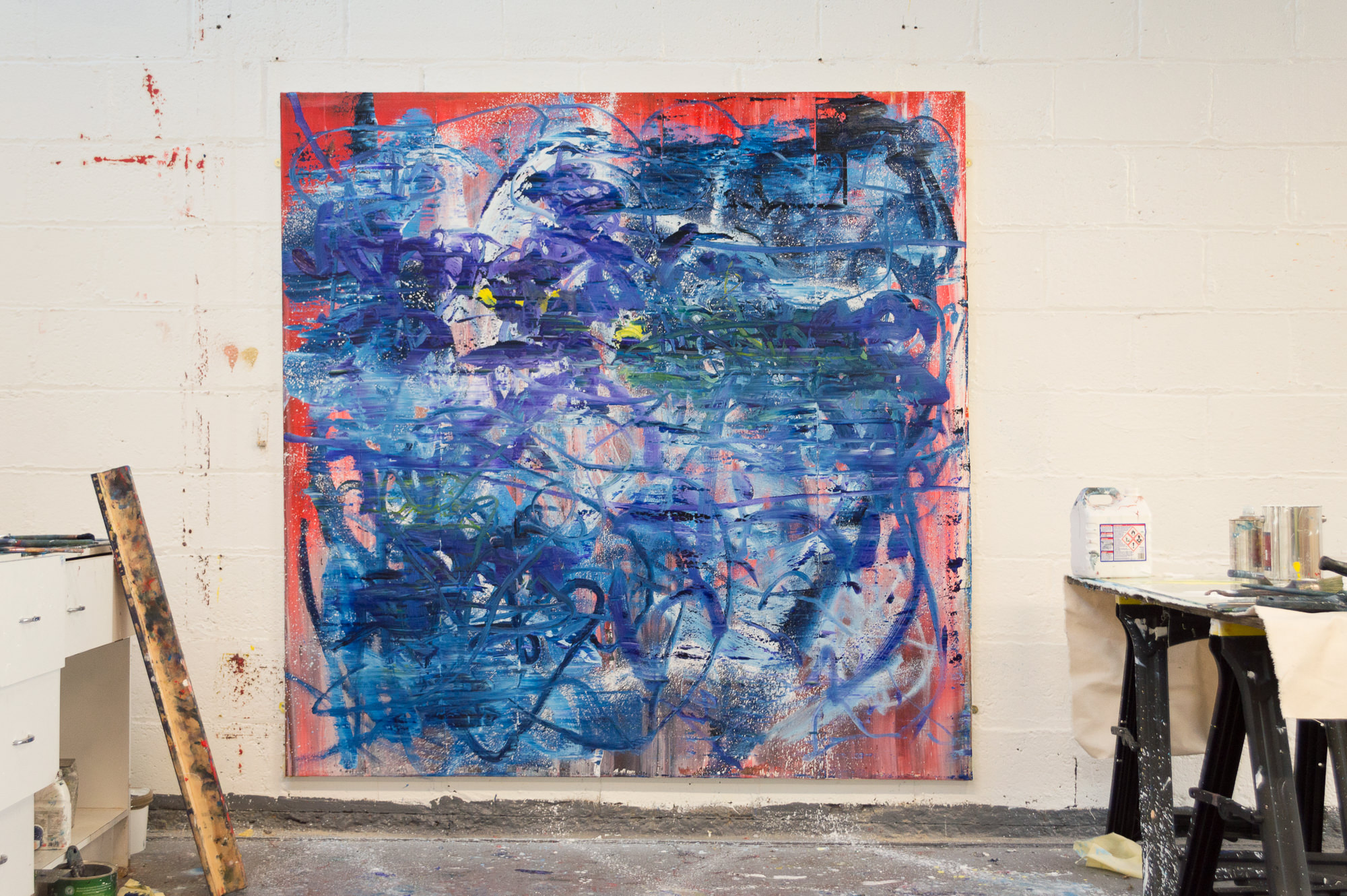 Robert West. Borderline Series. Abstract Painting No.75. Oil on Canvas. 200 x 200 cm. 2013-2014. 09.jpg