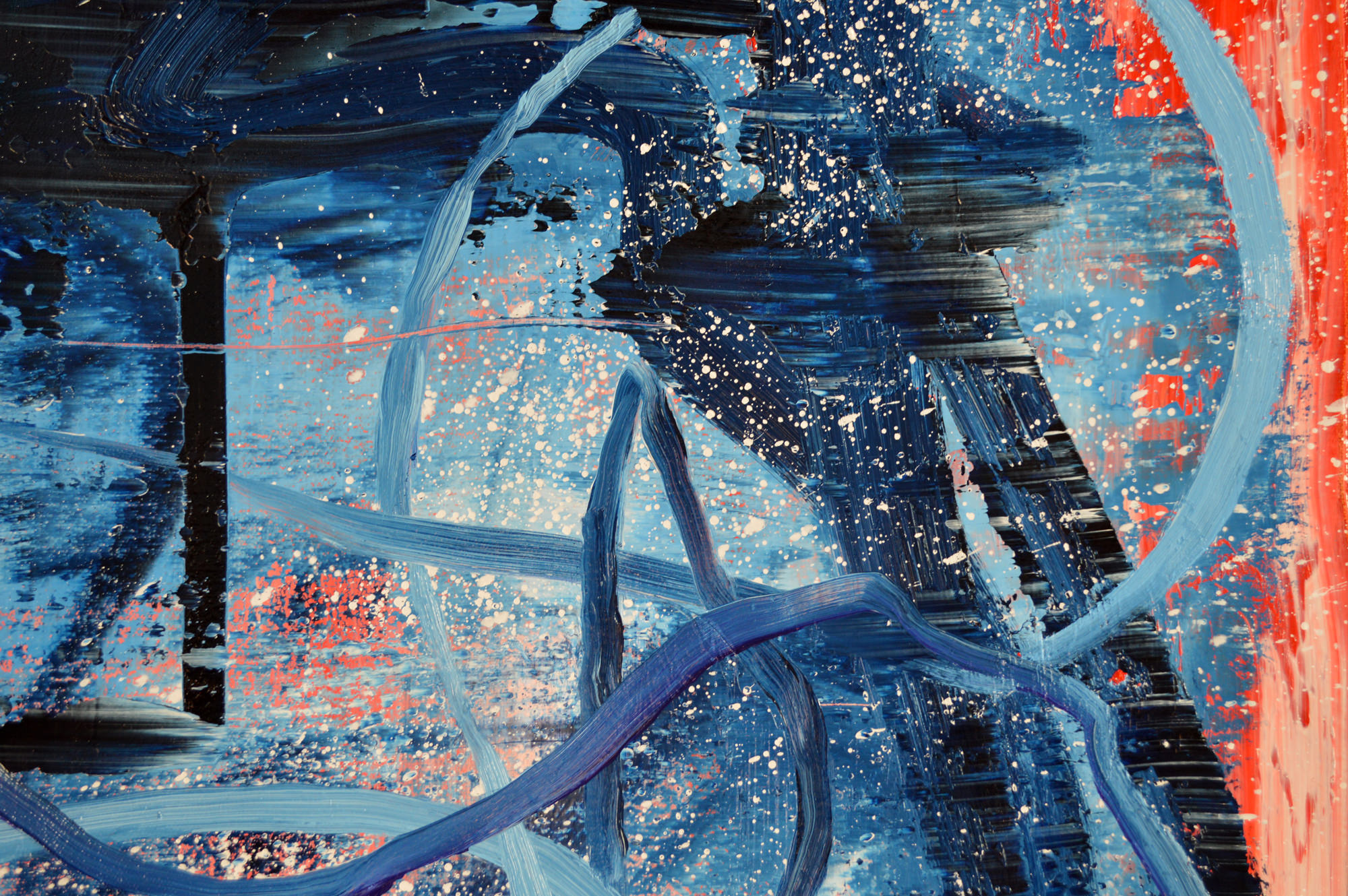Robert West. Borderline Series. Abstract Painting No.75. Oil on Canvas. 200 x 200 cm. 2013-2014 -  Close Up 02.jpg
