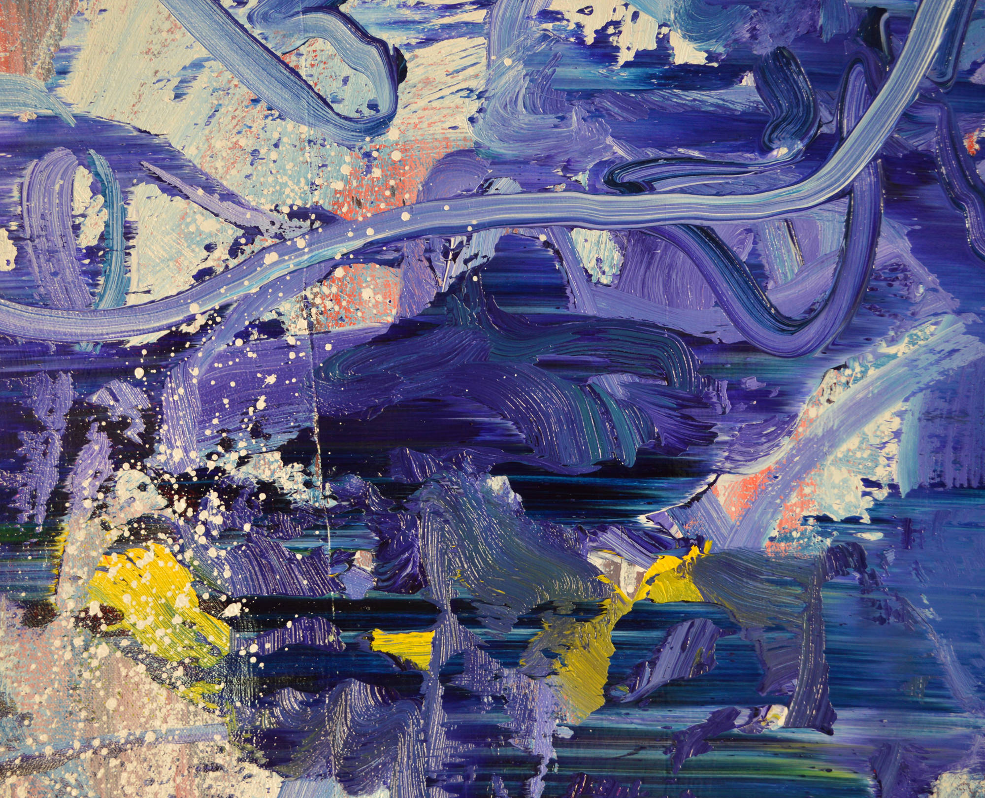 Robert West. Borderline Series. Abstract Painting No.75. Oil on Canvas. 200 x 200 cm. 2013-2014 -  Close Up 04.jpg
